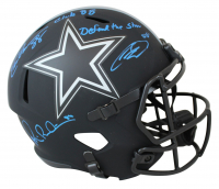 "Michael Irvin, Drew Pearson, & CeeDee Lamb Signed Cowboys Eclipse Alternate Speed Full-Size Helmet Inscribed ""Defend The Star"" & ""Club 88"" (Beckett COA & Fanatics Hologram) at PristineAuction.com"