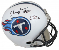 Chris Johnson Signed Titans Throwback Full-Size Helmet (Beckett COA) at PristineAuction.com