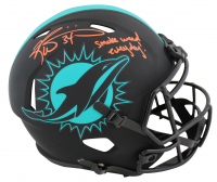 """Ricky Williams Signed Dolphins Full-Size Eclipse Alternate Speed Helmet Inscribed """"Smoke Weed Everyday"""" (Beckett COA) at PristineAuction.com"""