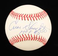 "Enos Slaughter Signed ONL Baseball Inscribed ""HOF 85"" (Beckett COA) at PristineAuction.com"