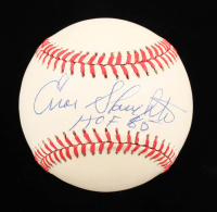 """Enos Slaughter Signed ONL Baseball Inscribed """"HOF 85"""" (Stacks Of Plaques COA) at PristineAuction.com"""