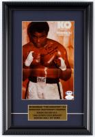 "Muhammad Ali 10.75x16 Custom Framed Photo Display Inscribed ""9-27-90"" at PristineAuction.com"