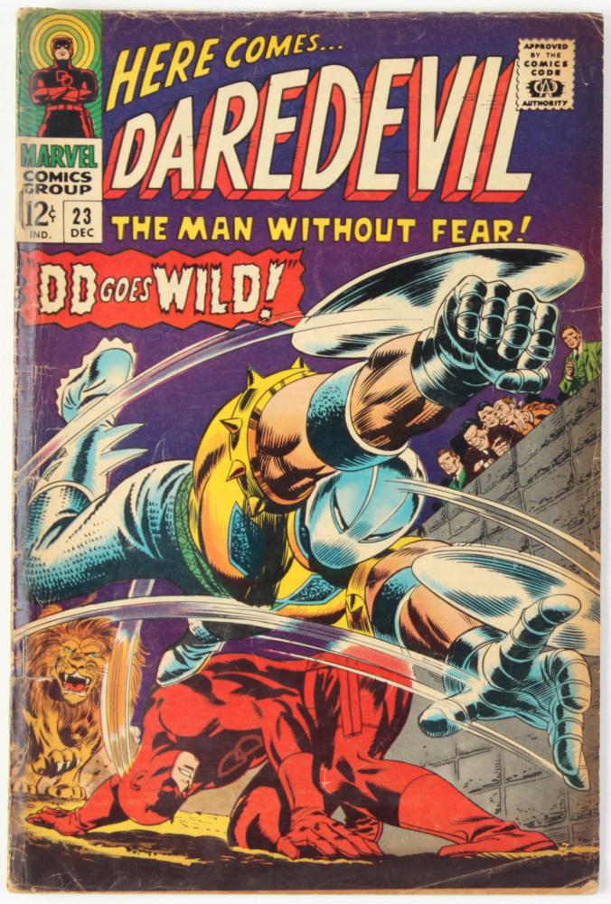 "Vintage 1966 ""Daredevil"" Vol. 1 Issue #208 Marvel Comic Book at PristineAuction.com"