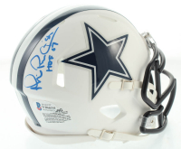 "Michael Irvin Signed Cowboys Matte White Speed Mini Helmet Inscribed ""HOF 07"" (Beckett COA) at PristineAuction.com"