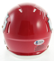 """Travis Kelce Signed Chiefs Speed Mini Helmet Inscribed """"SB LIV Champs"""" (Beckett COA) at PristineAuction.com"""