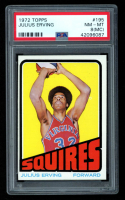 Julius Erving 1972-73 Topps #195 RC (PSA 8) (MC) at PristineAuction.com