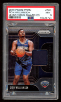 Zion Williamson 2019-20 Panini Prizm Sensational Swatches #ZWL (PSA 9) at PristineAuction.com