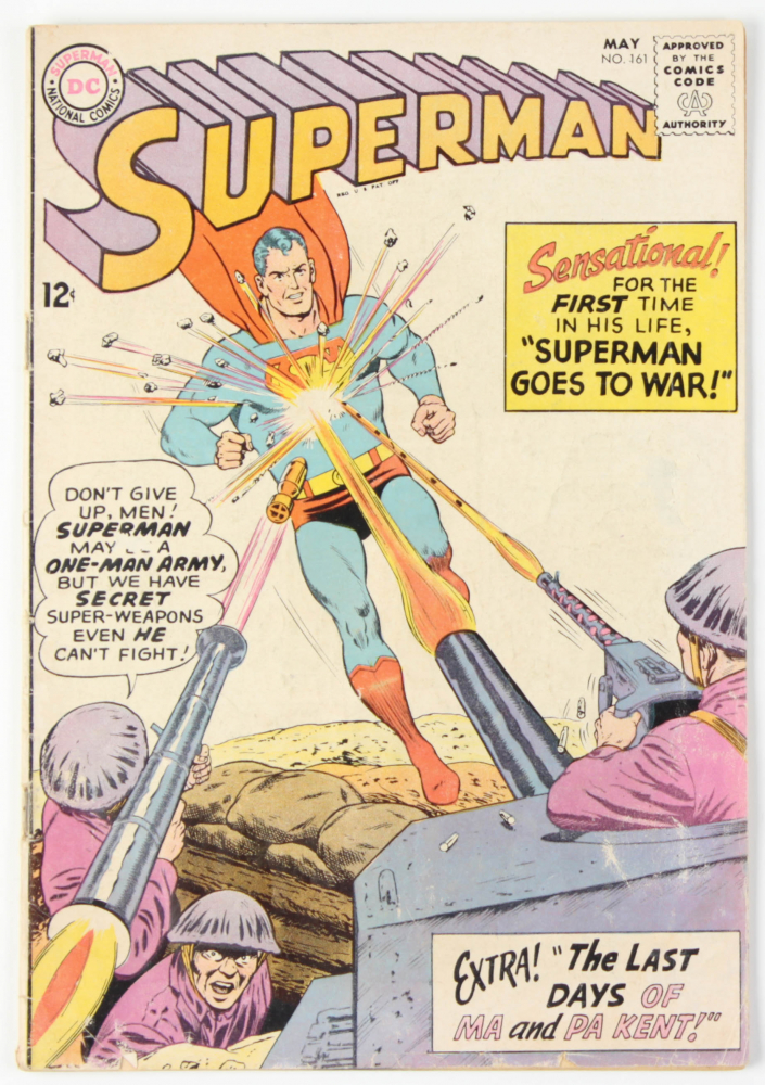 """Vintage 1963 """"Superman"""" Issue #161 DC Comic Book at PristineAuction.com"""