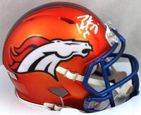 Peyton Manning Signed Broncos Blaze Speed Mini Helmet (Fanatics Hologram) at PristineAuction.com