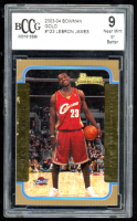 LeBron James 2003-04 Bowman Gold #123 (BCCG 9) at PristineAuction.com