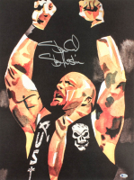 Stone Cold Steve Austin Signed WWE 18x24 Print (Beckett Hologram) at PristineAuction.com