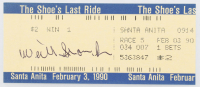 "Willie ""Bill"" Shoemaker Signed Vintage ""The Shoe's Last Ride"" Last Original Ride Ticket (JSA COA) at PristineAuction.com"