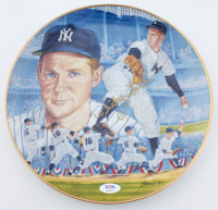 "Whitey Ford Signed LE ""World Series Wind-up"" Gartlan Porcelain Plate (PSA COA) at PristineAuction.com"