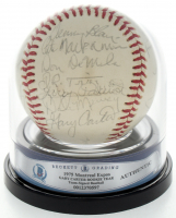 1975 Expos ONL Baseball Team-Signed by (26) with Gary Carter, Duke Snider, Steve Rogers, Woodie Fryman (BGS Encapsulated) at PristineAuction.com