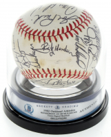 1982 Athletics OAL Baseball Team-Signed by (31) with Rickey Henderson, Dwayne Murphy, Wayne Gross, Tom Underwood (BGS Encapsulated) at PristineAuction.com