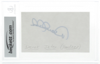 Derek Jeter Signed 3x5 Index Card (BGS Encapsulated) at PristineAuction.com