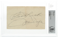 "John Wayne Signed 3x5 Index Card Inscribed ""Good Luck"" (BGS Encapsulated) at PristineAuction.com"