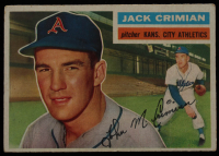 Jack Crimian 1956 Topps #319 RC at PristineAuction.com