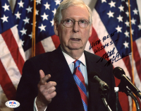 "Mitch McConnell Signed 8x10 Photo Inscribed ""With Best Wishes"" (PSA COA) at PristineAuction.com"