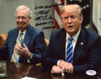 """Mitch McConnell Signed 8x10 Photo Inscribed """"With Best Wishes"""" & """"Majority Leader"""" (PSA COA) at PristineAuction.com"""