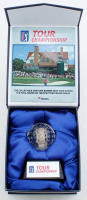 2018 PGA Tour Championship Commemorative Glass Golf Ball with Bunker Sand at PristineAuction.com