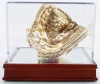 Nolan Ryan Signed Rawlings Mini Gold Baseball Glove with Display Case (PSA COA) at PristineAuction.com
