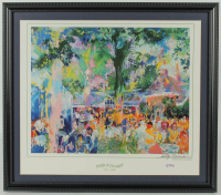 "LeRoy Neiman Signed ""Tavern on the Green"" 22x25 Custom Framed Print Display (PSA COA) at PristineAuction.com"