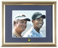 """Tiger Woods & Jack Nicklaus """"The Masters"""" 13x16 Custom Framed Photo Display with Masters Tournament Ball Marker at PristineAuction.com"""