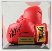 Pair of (2) Mike Tyson Signed Everlast Boxing Gloves With Display Case (PSA COA) at PristineAuction.com