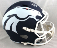 Peyton Manning Signed Broncos Full-Size AMP Alternate Speed Helmet (Fanatics Hologram) at PristineAuction.com