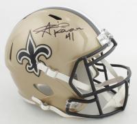 Alvin Kamara Signed Saints Full-Size Speed Helmet (Beckett COA) at PristineAuction.com
