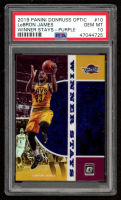 LeBron James 2019-20 Donruss Optic Winner Stays Purple #10 (PSA 10) at PristineAuction.com