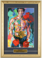 "LeRoy Neiman ""Rocky"" 13x18 Custom Framed Print Display at PristineAuction.com"