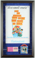 "Disneyland Fantasyland's ""It's A Small World"" 14.5x25 Custom Framed Print Display with Vintage Film Reel & Ticket Booklet at PristineAuction.com"