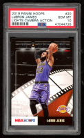 LeBron James 2019-20 Hoops Lights Camera Action #20 (PSA 10) at PristineAuction.com