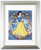 "Walt Disney's ""Snow White"" 13.5x16.5 Custom Framed Hand-Painted Animation Serigraph Cel at PristineAuction.com"
