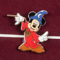 """Mickey Mouse """"The Sorcerer's Apprentice"""" 11.5x13.5 Custom Framed Animation Cel Display with Disney Pin at PristineAuction.com"""