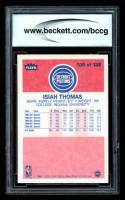 Isiah Thomas 1986-87 Fleer #109 RC (BCCG 10) at PristineAuction.com