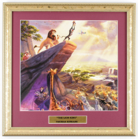 "Thomas Kinkade Walt Disney's ""The Lion King"" 15.5x15.5 Custom Framed Print Display at PristineAuction.com"