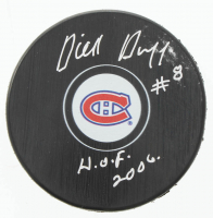 """Dick Duff Signed Canadiens Logo Hockey Puck Inscribed """"H.O.F. 2006."""" (COJO COA) at PristineAuction.com"""