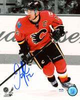 Jarome Iginla Signed Flames 8x10 Photo (PSA COA) at PristineAuction.com