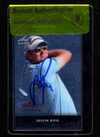 Justin Rose Signed 2011 Leaf Golf Metal #MJR1 (BGS Encapsulated) at PristineAuction.com