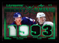 Teemu Selanne / Mario Lemieux 2019-20 Leaf Ultimate Ultimate Hockey Almanac Relics Green Spectrum #HA18 at PristineAuction.com