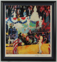 "LeRoy Neiman Signed ""The Presidents Birthday Party"" 25x27 Custom Framed Vintage Lithograph Display (PSA COA) at PristineAuction.com"