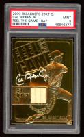 Cal Ripken Jr. 2000 Bleachers 23KT Gold Feel The Game with Piece of Game-Used Bat (PSA 9) at PristineAuction.com