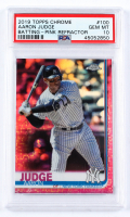 Aaron Judge 2019 Topps Chrome Pink Refractors #100 (PSA 10) at PristineAuction.com