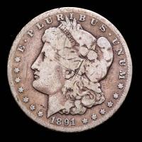 1891-CC Morgan Silver Dollar at PristineAuction.com