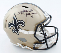 Alvin Kamara Signed Saints Full-Size Speed Helmet (Beckett COA) at PristineAuction.com