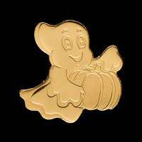 Palau $1 Ghost Shaped Gold Coin at PristineAuction.com
