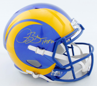 """Isaac Bruce Signed Rams Full-Size Speed Helmet Inscribed """"HOF 20"""" (Beckett COA) at PristineAuction.com"""